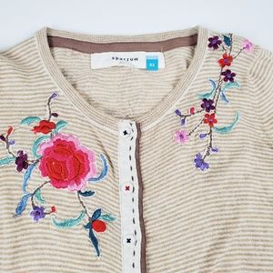Anthropologie Sparrow Rainbow Trellis Cardigan